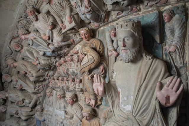 Pórtico de la Gloria de la Catedral de Santiago restaurado