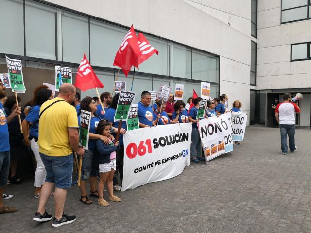 Protesta del 061 frente al Sergas