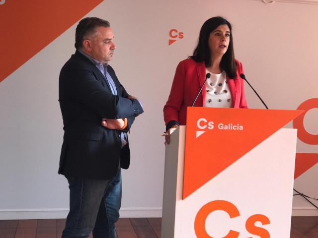 La portavoz de Ciudadanos y el secretario de Organización en Galicia