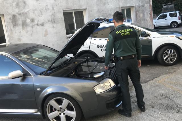 Vehículo detectado en el marco de la operación 'Trucajecam'