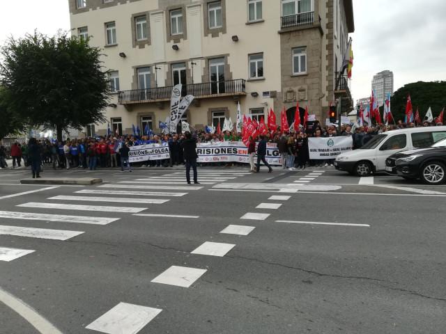Protesta de trabajadores de prisiones