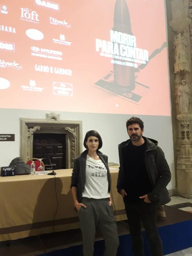 Nerea Barros y Hernán Zin, en la presentación de 'Morir para contar'