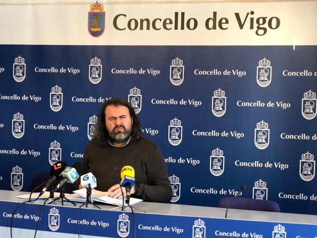 Rubén Pérez este jueves en Vigo.
