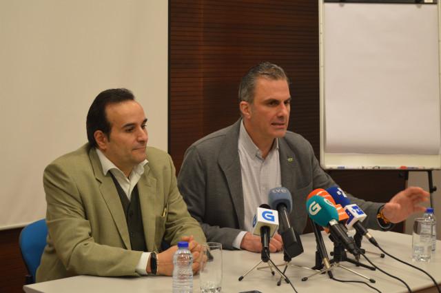 Ortega Smith, rueda de prensa en Ourense