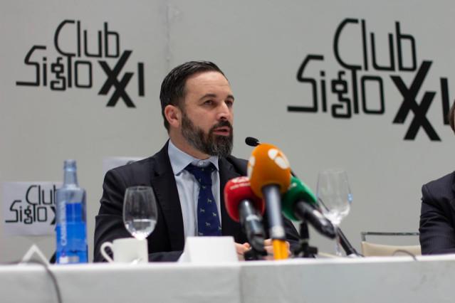 Santiago Abascal protagoniza un Desayuno Informativo del Club Siglo XXI