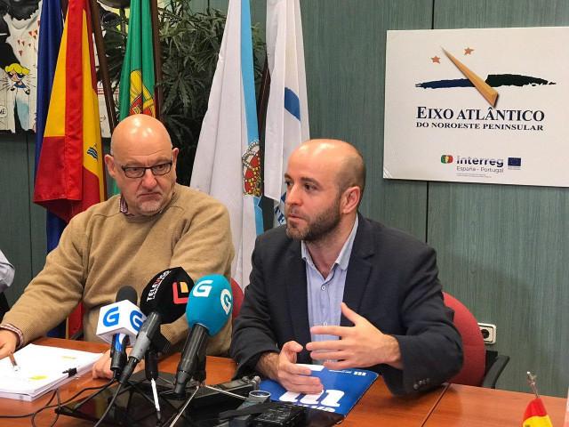 Luís Villares (En Marea) se reúne con el secretario xeral del Eixo Atlántico, Xo