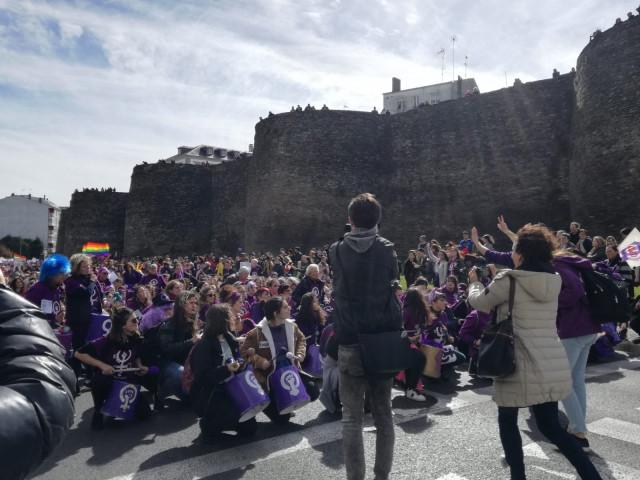 Cerca de 10.000 personas se manifiestan en Lugo convocadas por Galegas 8M para r