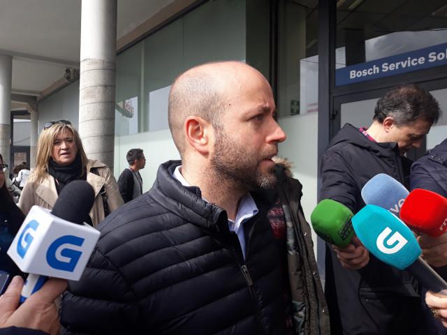 El portavoz del Grupo Parlamentario de En Marea este lunes en Vigo