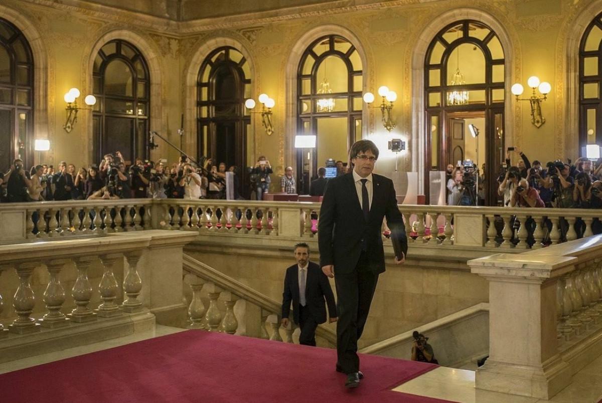 Puigdemont Parlament DUI