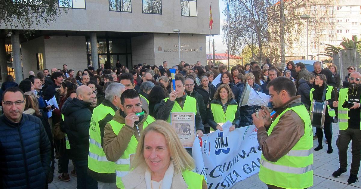Funcionarios justicia huelga