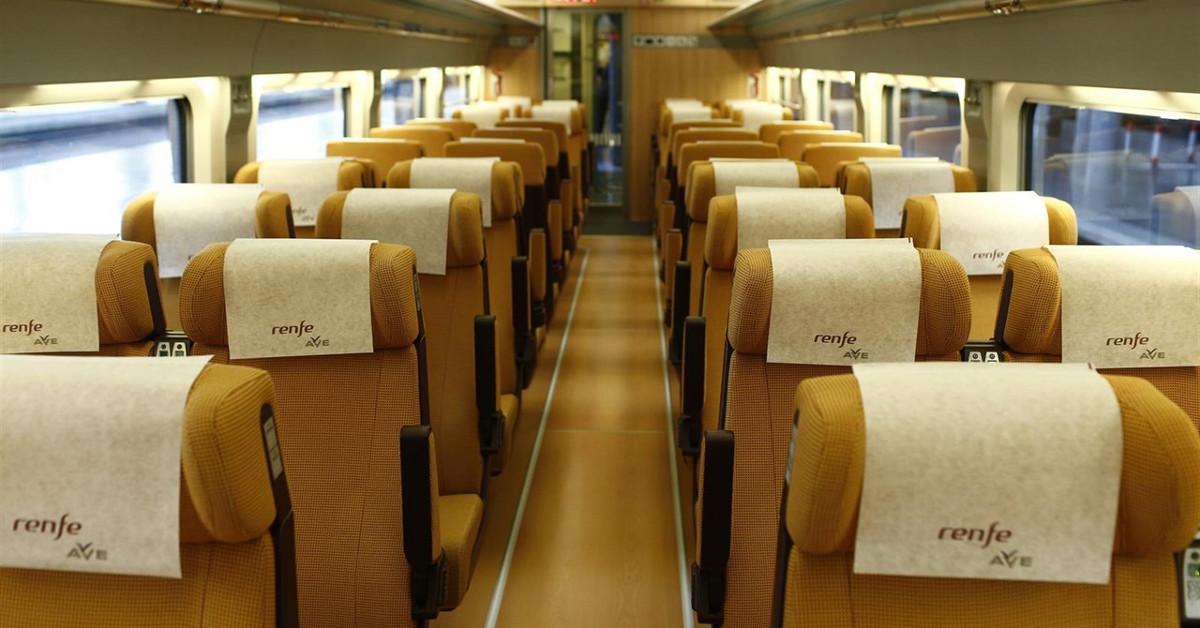 Ave asientos tren