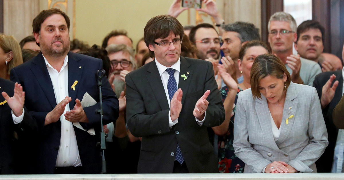 Junqueras puigdemont forcadell