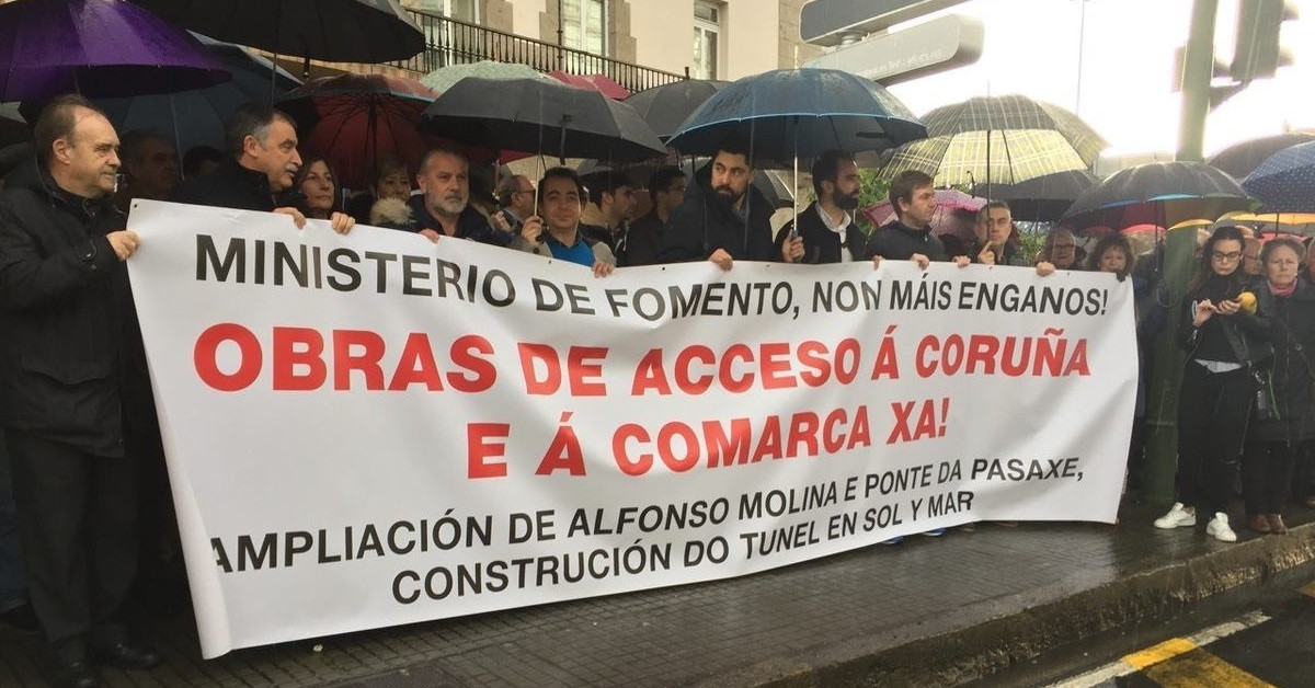 Protesta coruna accesos
