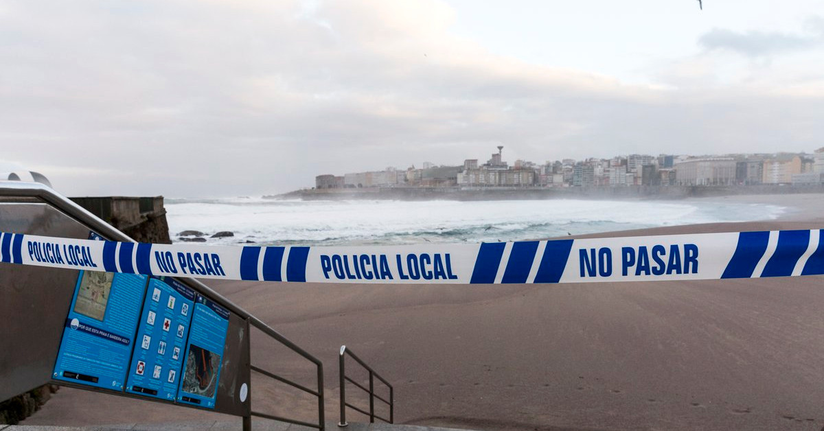 Coruna policia local playa