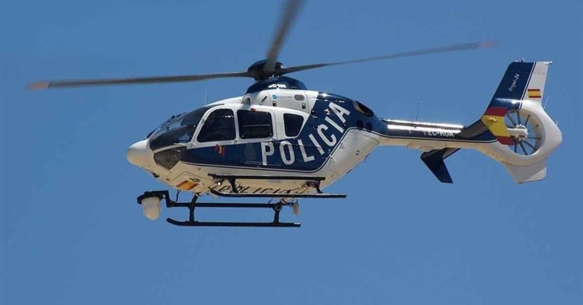 Policia helicoptero