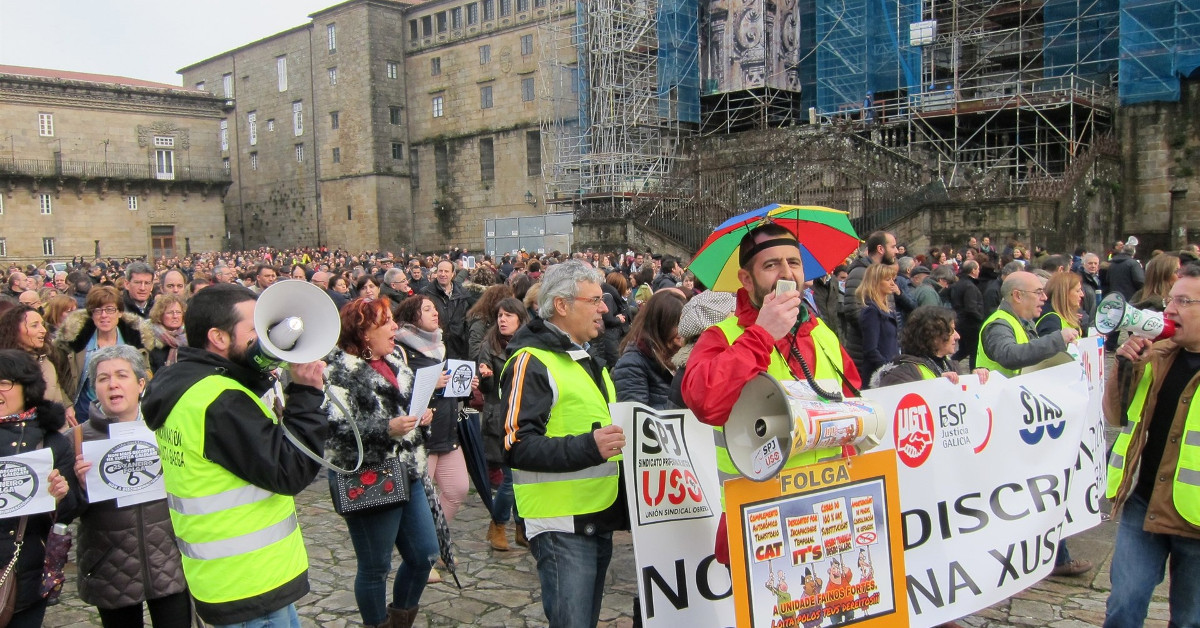 Justicia funcionarios manifestacion