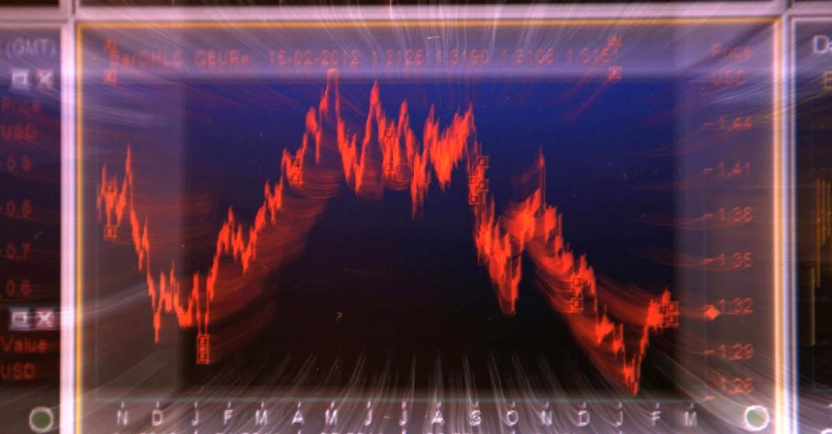 Mercados valores rojo
