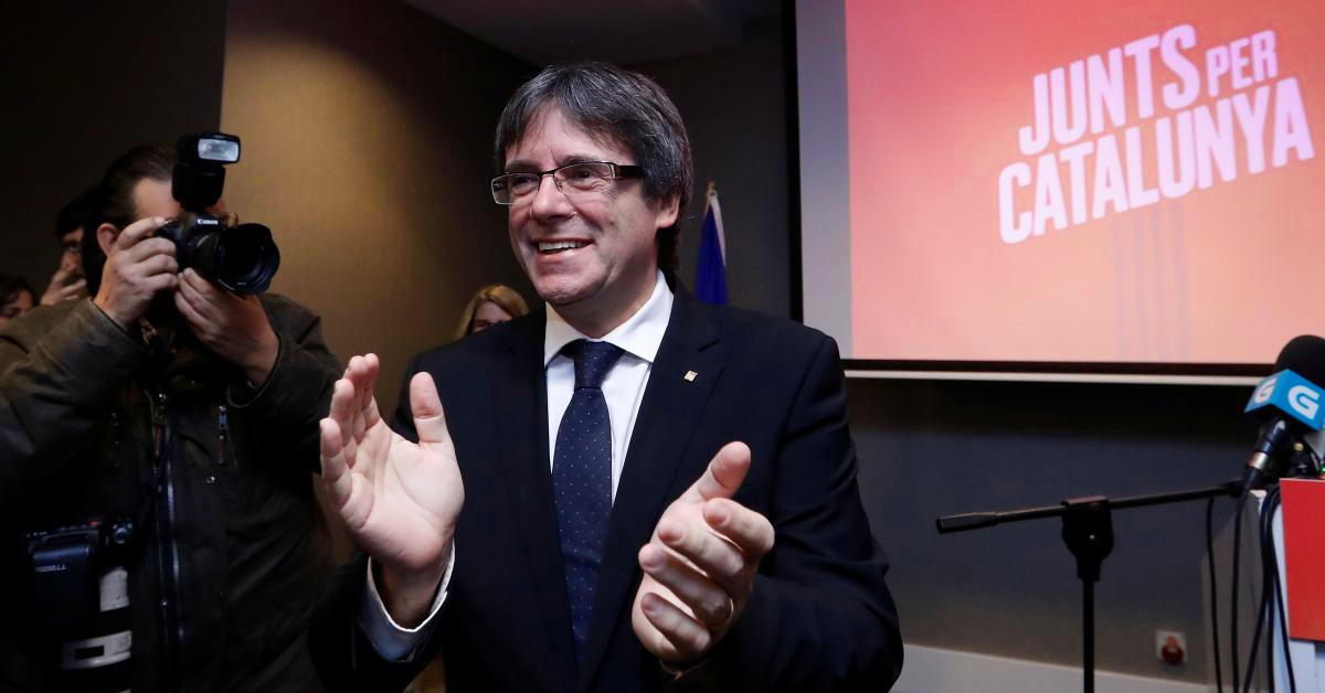 Puigdemont aplauso