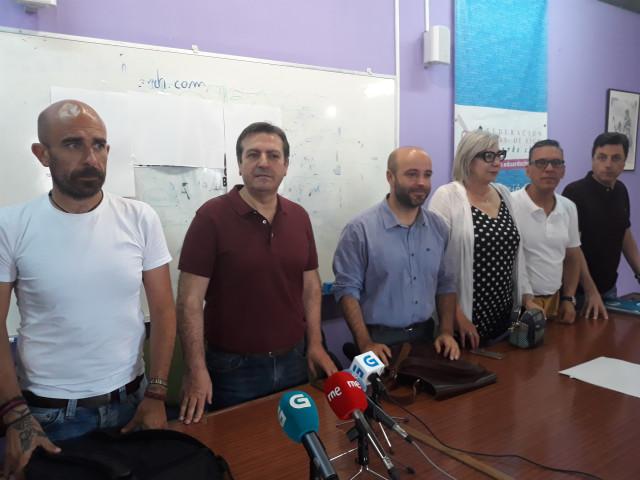 Bará y Villares junto a sindicalistas de la Justicia de CUT, CIG y STAJ