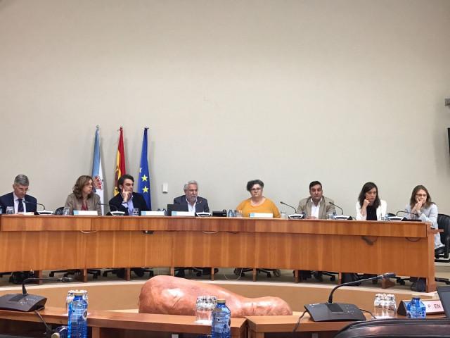 Comisión de Peticións del Parlamento de Galicia con la valedora