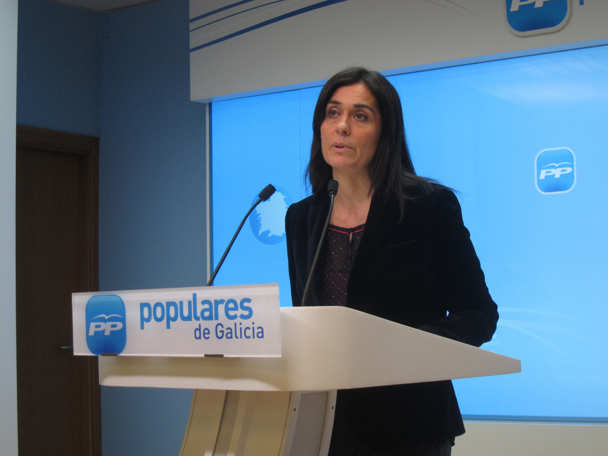 La portavoz del PPdeG, Paula Prado, en rueda de prensa