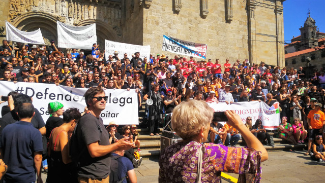 Manifestación CRTVG
