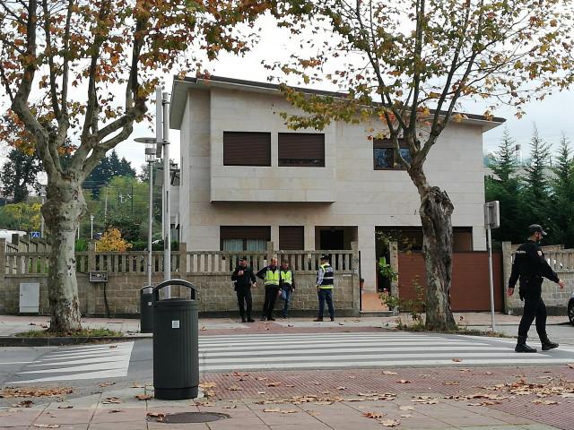 Vivienda registrada en Pontevedra en la operación antidroga