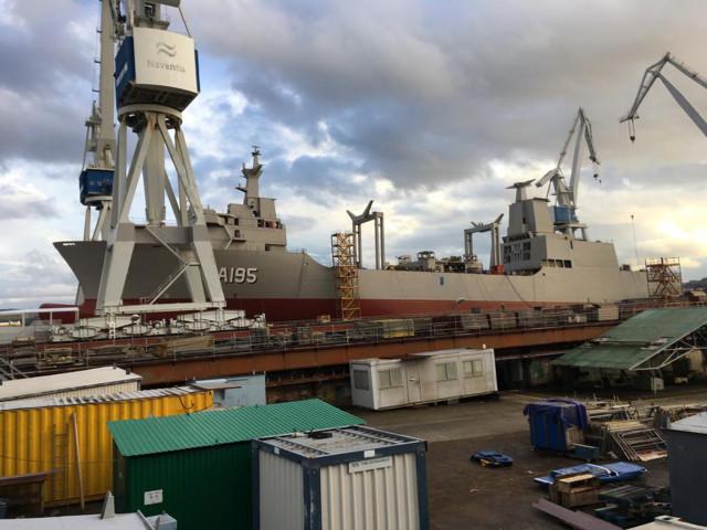 Buque 'Supply' que será botado en Navantia Ferrol