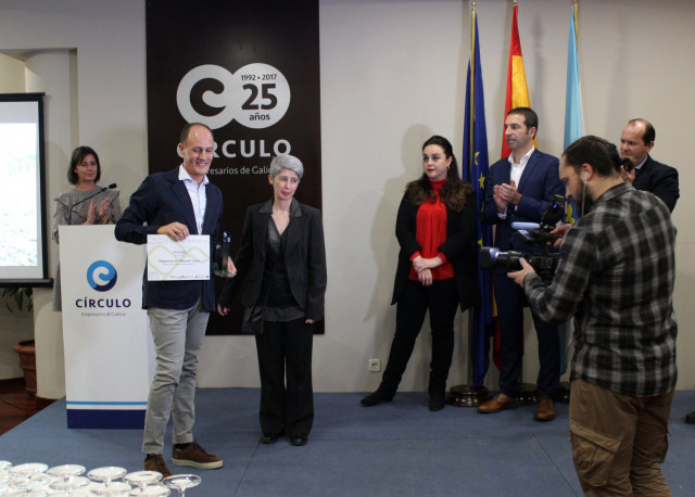 El gerente de TEN, David González, recoge el Premio Medio Ambiente de Aproeme
