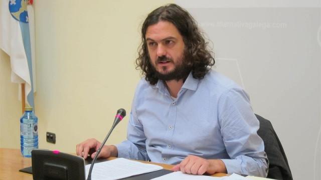 El viceportavoz de En Marea, Antón Sánchez