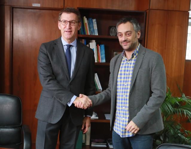 Feijóo y Xulio Ferreiro en su reunión en A Coruña