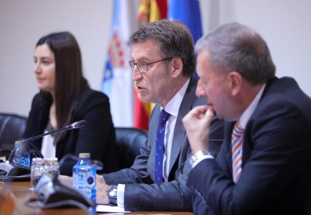 El presidente de la Xunta, Alberto Núñez Feijóo, en comisión parlamentaria.