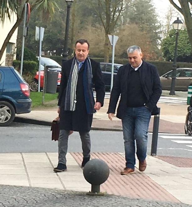 El alcalde de Barreiros, Alfonso Fuente Parga, llega a los juzgados