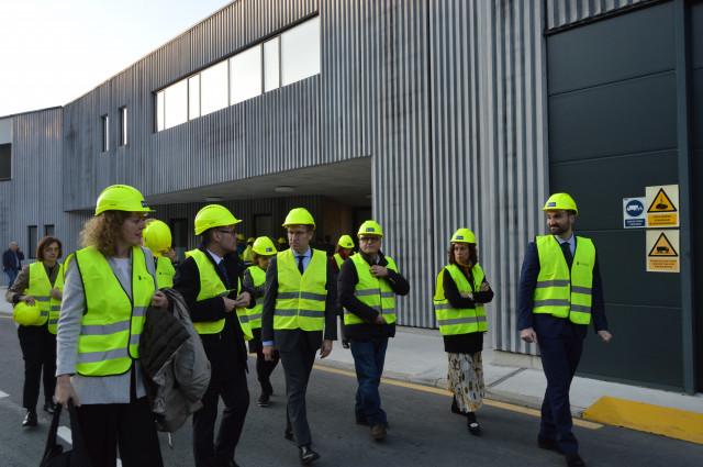 El presidente de la Xunta, Alberto Núñez Feijóo, visita la EDAR de Ourense