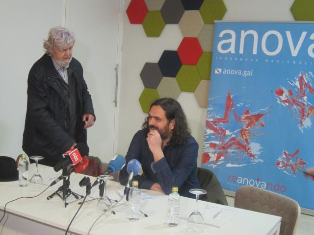 Antón Sánchez y Xosé Manuel Beiras, de Anova