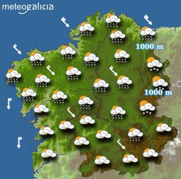 Predicciones meteorológicas para este miércoles en Galicia: Cielo cubierto con c