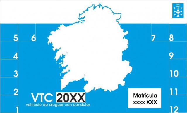 Los VTC autorizados en Galicia deberán identificarse con un distintivo obligatorio a partir de este miércoles