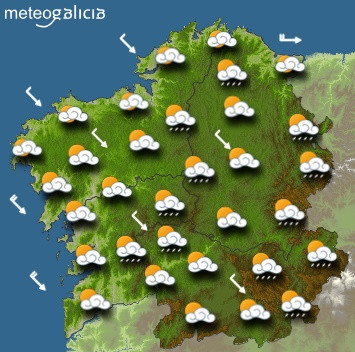 Predicciones meteorológicas para este jueves en Galicia: Cielo parcialmente cubierto y temperaturas en descenso