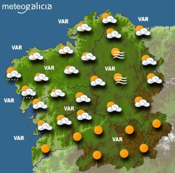 Predicciones meteorológicas para este jueves en Galicia: Cielo parcialmente nublado y temperaturas en ascenso