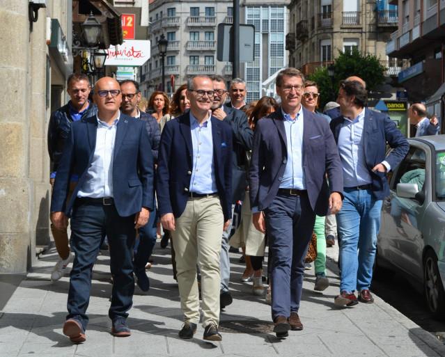 Feijóo pide en Ourense el voto al PP para que