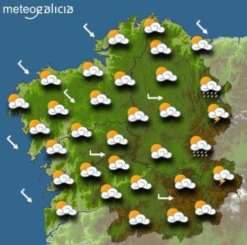 Predicciones para el jueves 27 de junio en Galicia.