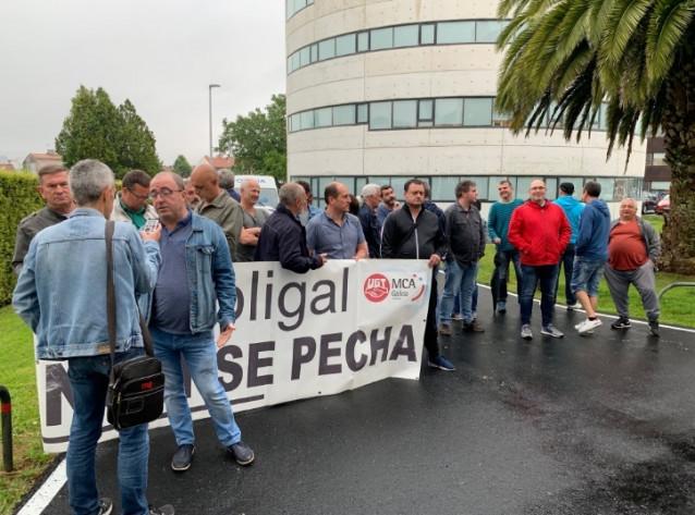 Protesta contra el cierre de Poligal