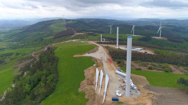 Parque eólico desarrollado por Naturgy en Punago-Vacariza, en la provincia de Lugo.