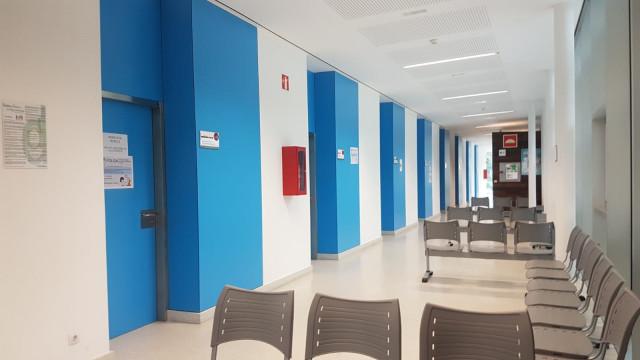 Centro de salud de Galicia con profesionales de Atención Primaria en huelga el 19 de junio.