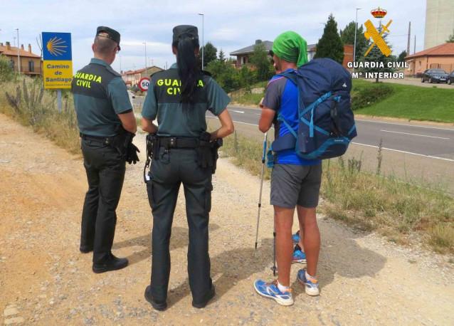 Guardia Civil en el Camino de Santiago