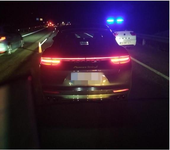 Porsche detectado en Toén (Ourense) cuando circulaba a 224 km/en la autovía A-52