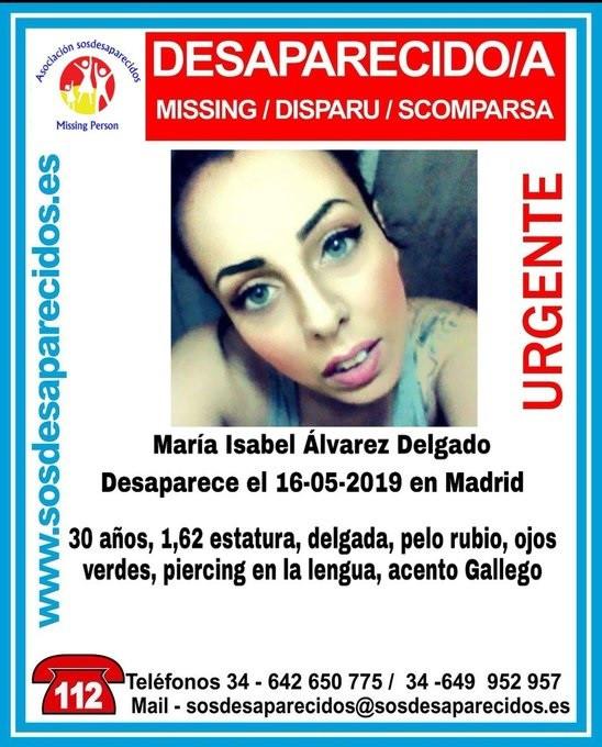 Buscan a una mujer desaparecida en Madrid desde el pasado 16 de mayo