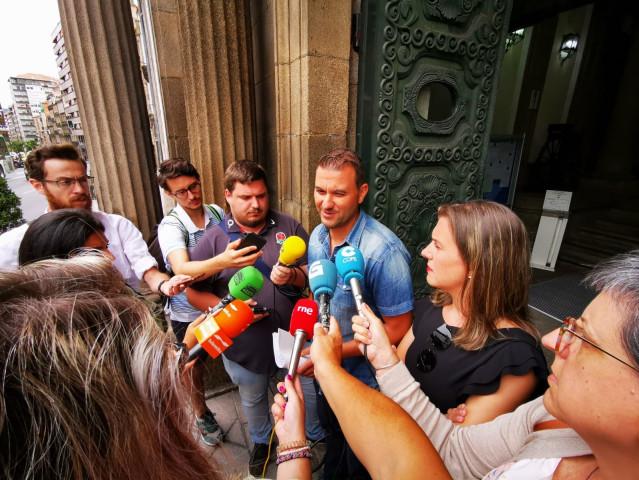 Diputados socialistas en Ourense