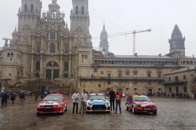 Presentación del XXVII Rally Botafumeiro con la presencia de las concejalas de Deportes, Esther Pedrosa y de Seguridad Ciudadana en funciones, Mila Castro