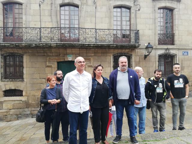 Rueda de prensa de Francisco Jorquera y Ana Miranda, del BNG, sobre la denuncia ante la ONU por el acceso a documentos franquistas